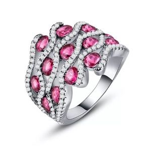 Gorgeous 925 Silver Filled Ruby Ring